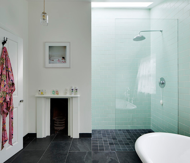 London Fields House eclectic-bathroom