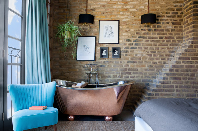 London Loft industrial-bathroom
