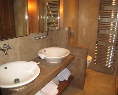 London micro screeds polished concrete floors poured resin for Polished concrete floor bathroom
