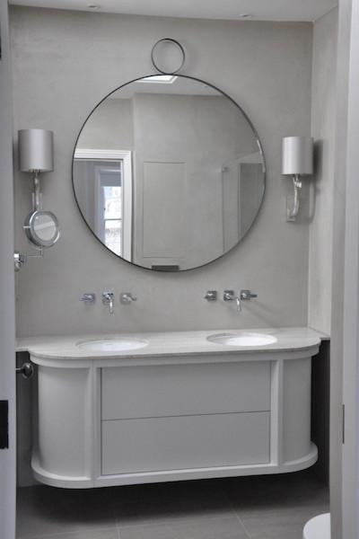 Modern bathroom in London.