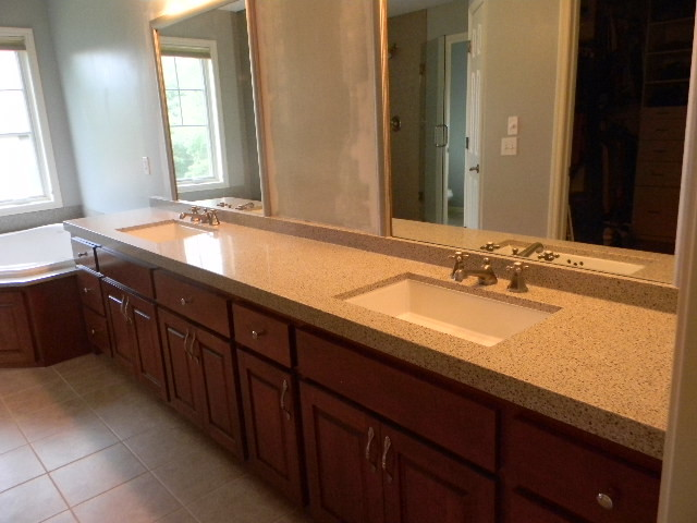 Long bath vanity king ivory granite from granite for Long bathroom vanity
