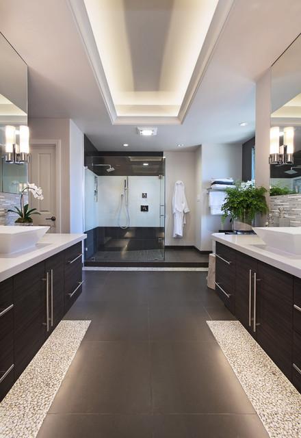 Long beach master bath contemporary bathroom orange for Long master bathroom designs