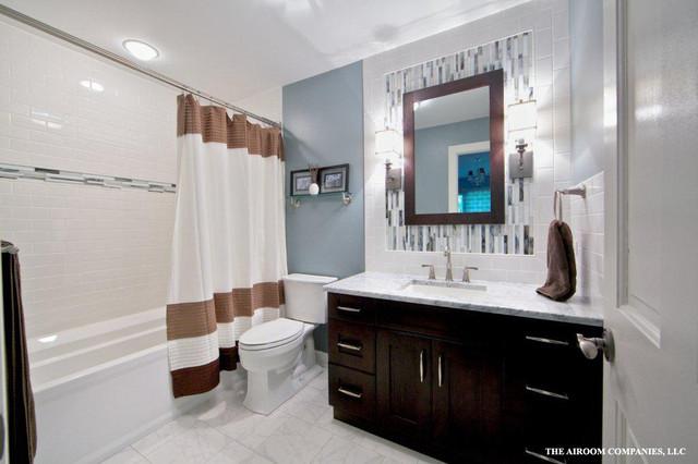 Long grove hall bath renovation modern bathroom - Bathroom renovation ideas for tight budget ...