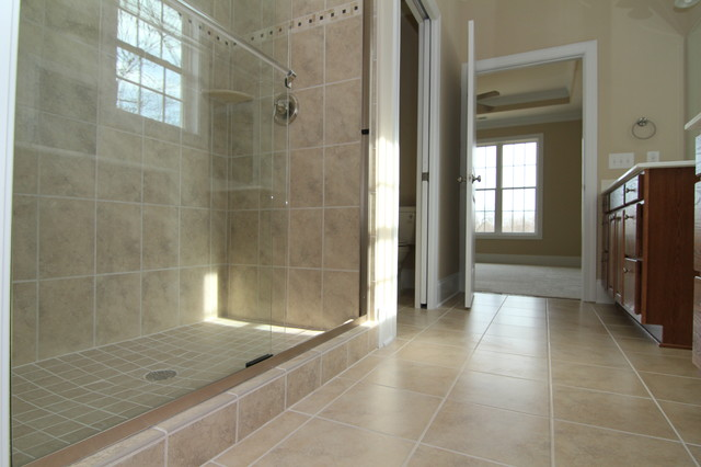 Long shower design - Traditional - Bathroom - Raleigh - by Stanton Homes
