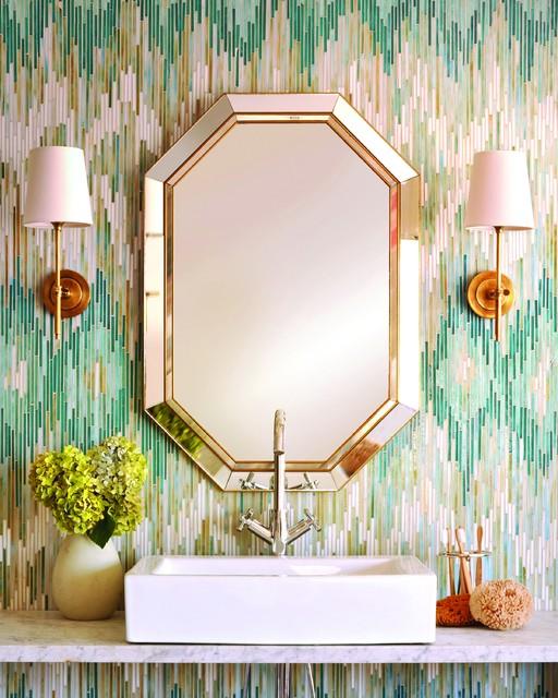 Loom Glass Mosaic Bathroom Wall contemporary-bathroom