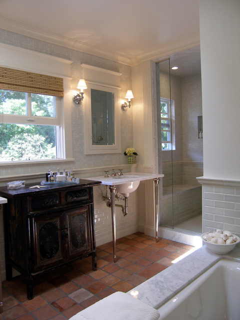 Lori Gilder of Interior Makeovers Inc. traditional bathroom