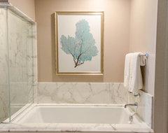 Lorie & Jim's Modern Tropical Ritz Residence tropical-bathroom