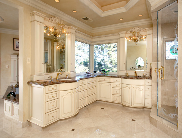 Formal french chateau for French chateau kitchen designs