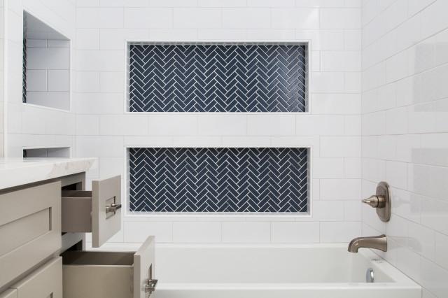 Los Angeles Ca Harper Ave Bathroom Remodel Transitional Bathroom Los Angeles By Luxe Remodel Houzz Au
