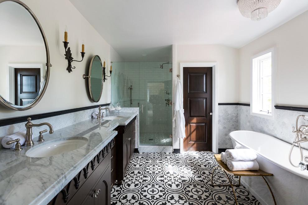 Los Feliz Spanish Revival, Spanish Style Bathroom Sinks