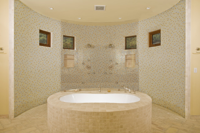 Los Gatos Mediterranean Custom Home mediterranean bathroom