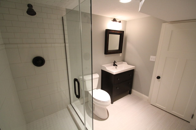Bathroom Ideas For Low Ceilings : Low ceiling basement transformation traditional