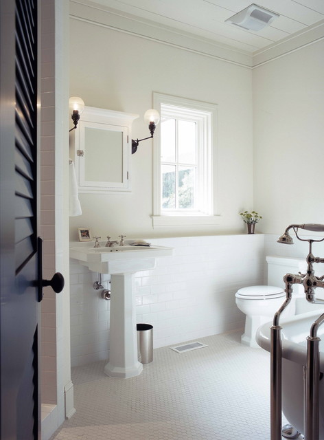 Subway Tile Wainscoting Puts Bathrooms