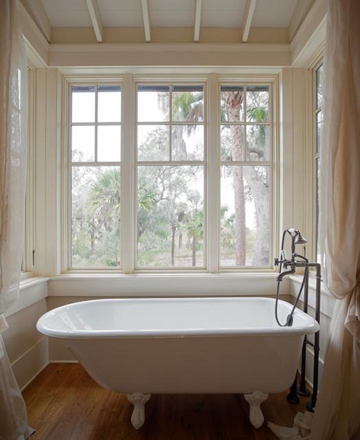 Low country tree house beach style bathroom charleston by wayne windham architect p a - Tree house bathroom ...