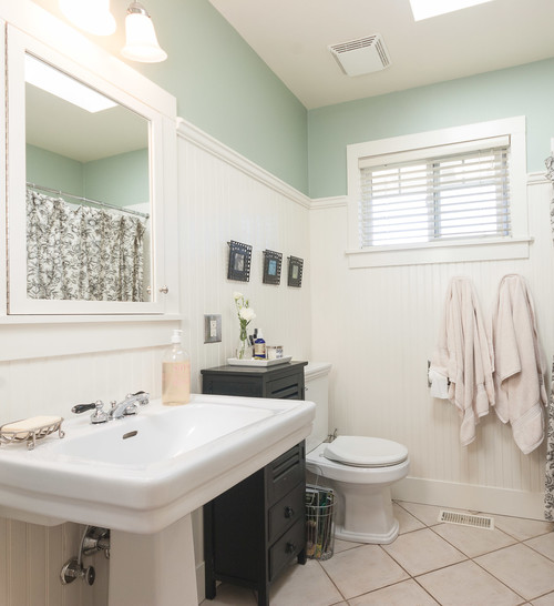 Beadboard Ceiling Bathroom: What Did You Use To Cap The Beadboard?