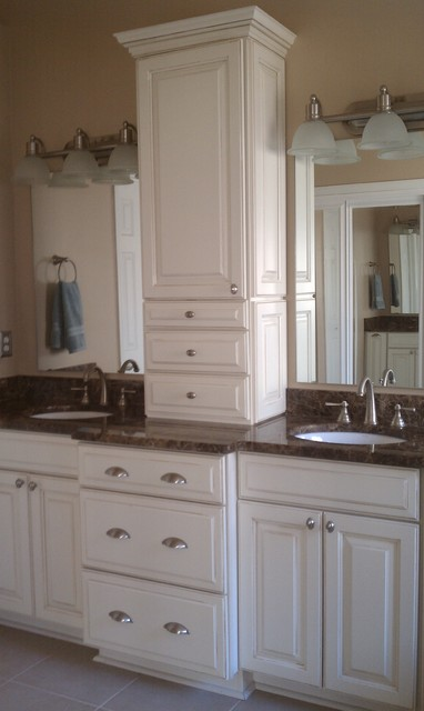 Ls master bath - Bathroom vanities with storage towers ...