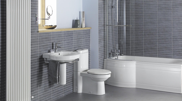 Lucetta Bathroom Suite Contemporary Bathroom Hampshire By BQ - Grey bathroom tiles bq
