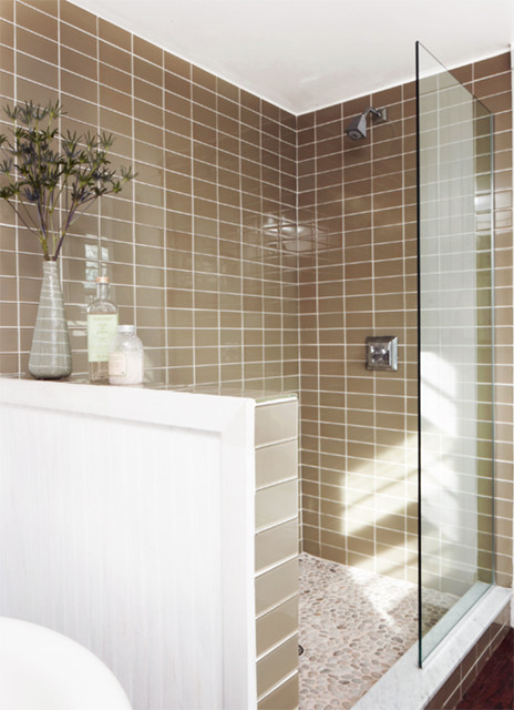 lush 3x6 glass subway tile installations traditional