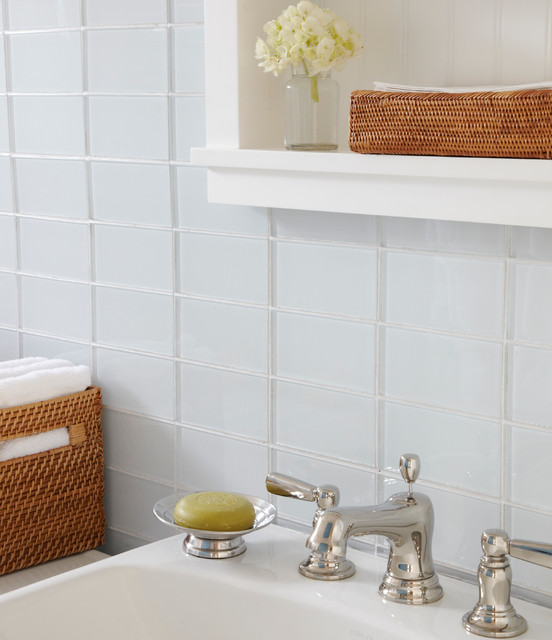 Lush 3x6 glass subway tile installations contemporary - Discount bathroom vanities los angeles ...