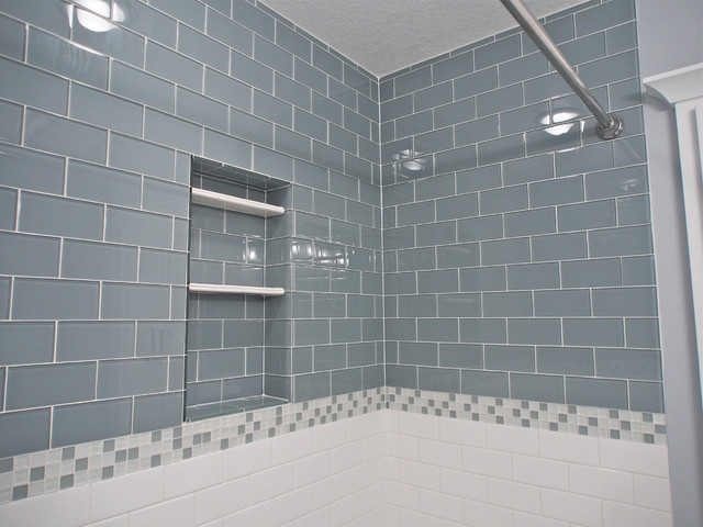 Lush 3x6 Glass Subway Tile Installations Eclectic