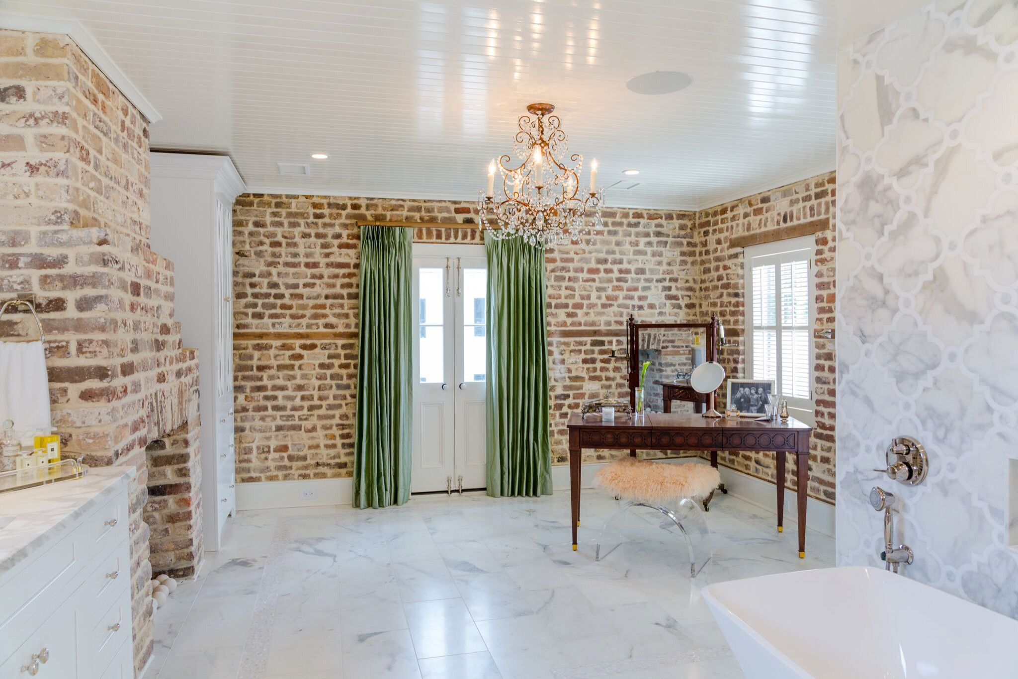 Luxe Master Bathroom in an Historic Home