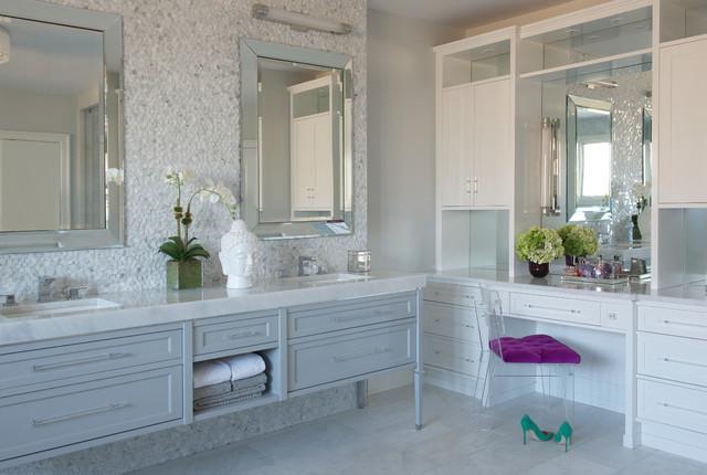MODERN GLAM - Transitional - Bathroom - New York - by Susan Glick Interiors