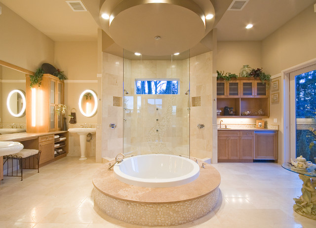 Luxurious Master Bath Contemporary Bathroom Seattle By Lakeville Homes