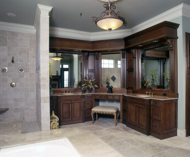 Luxurious master bath traditional bathroom other for Traditional master bathroom ideas