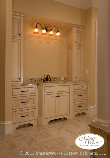 floor to ceiling cabinets bring a sense of luxury