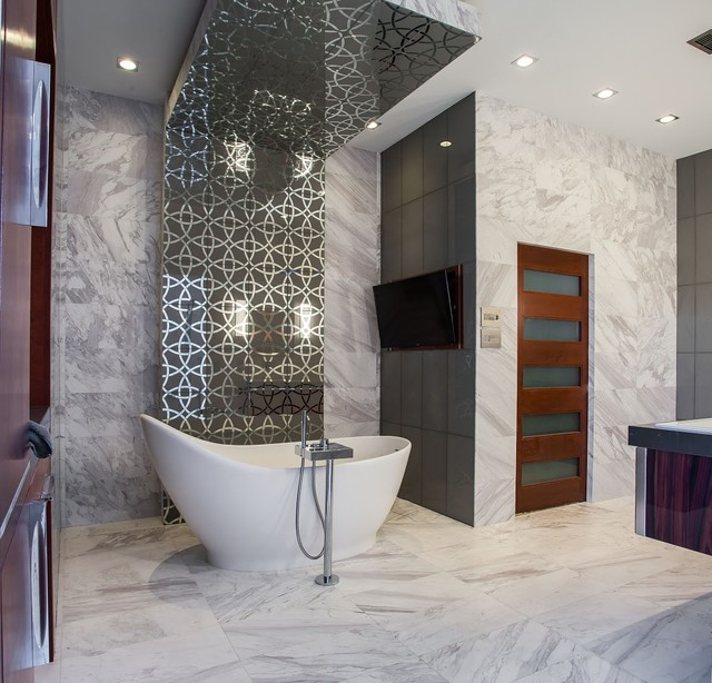 Luxurious Ultra-Modern Master Bath | Kemah, TX | 2016 modern-bathroom