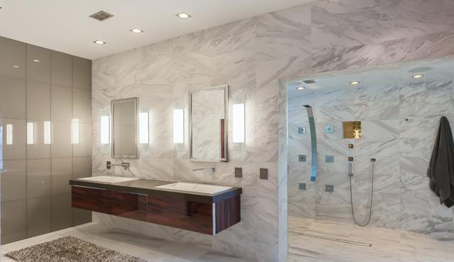 Luxurious Ultra-Modern Master Bath | Kemah, TX | 2016 modern-bathroom