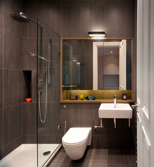 Luxury apartment in queen 39 s gate contemporary bathroom london by tg studio for Photos of contemporary bathrooms