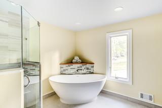 Minimal to the Max with a Luxury Corner Bath - Scotch Plains, NJ