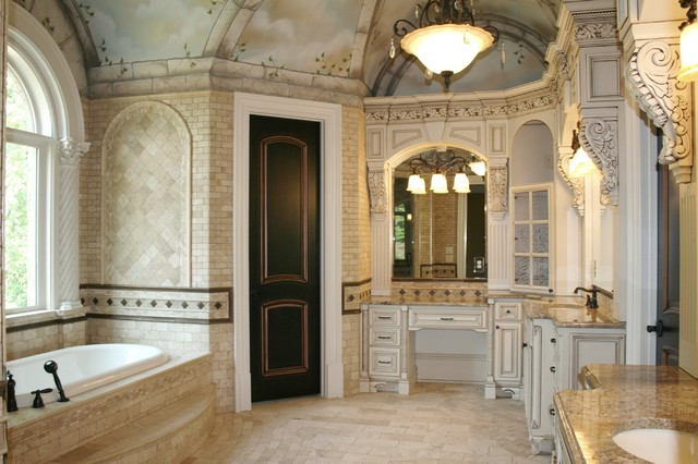 Marvelous Luxury Custom Bathrooms American Traditional Bathroom Beutiful Home Inspiration Semekurdistantinfo