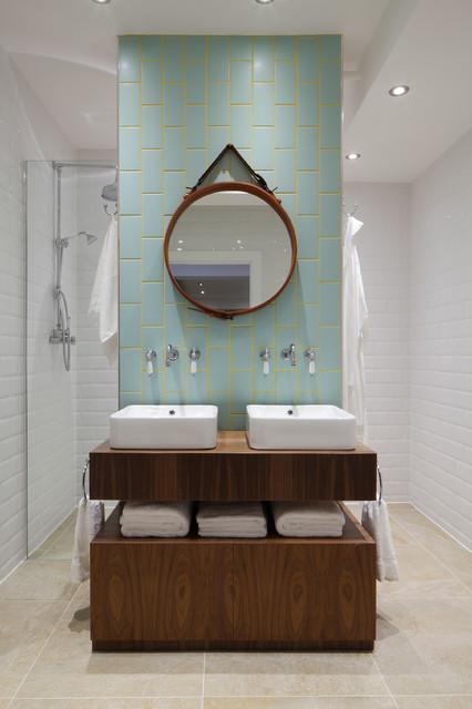 Luxury loft apartment bathroom industriel salle de bain london par ol - Salle de bain loft industriel ...