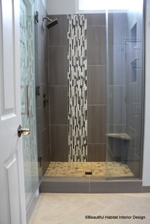 luxury makeover to small shower alcove - contemporary