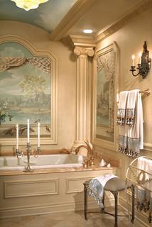 luxury master bathroom remodel - mediterranean - bathroom