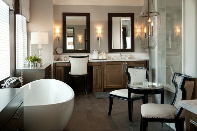 Transitional Master Bathroom Ideas : Luxury master bathroom robeson design transitional