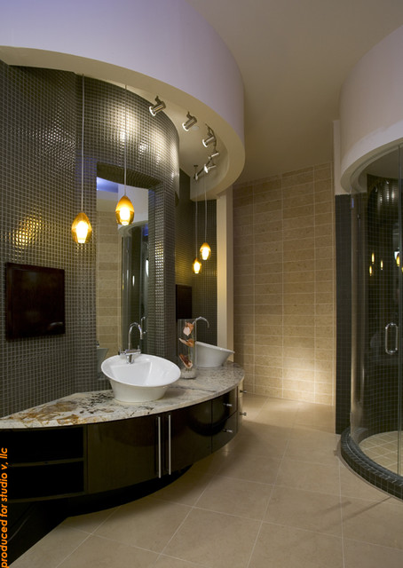 Luxury master suite contemporary bathroom phoenix for Master suite bathroom
