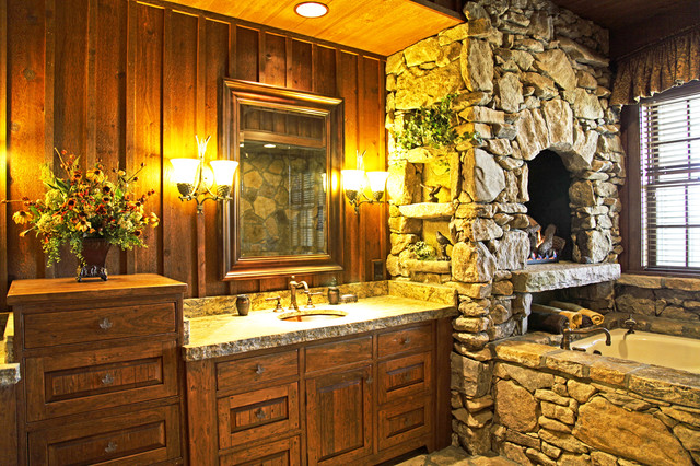 Luxury Mountain Lodge Rustic Bathroom Other By Mosscreek