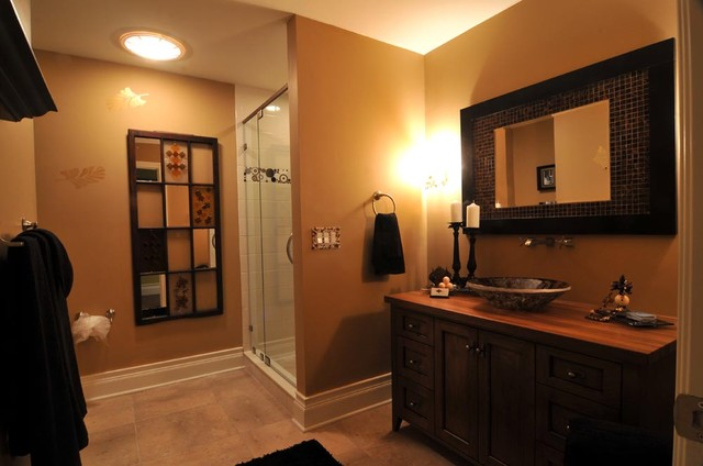 Luxury ranch model home contemporary bathroom other for Modern ranch bathroom