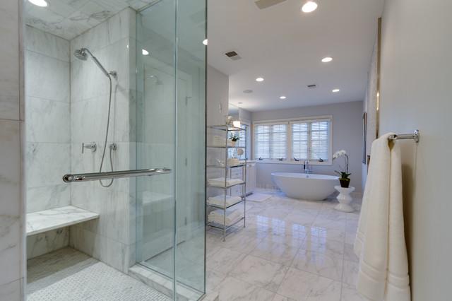 luxury spa bath contemporary bathroom dc metro by great falls distinctive interiors inc. Black Bedroom Furniture Sets. Home Design Ideas