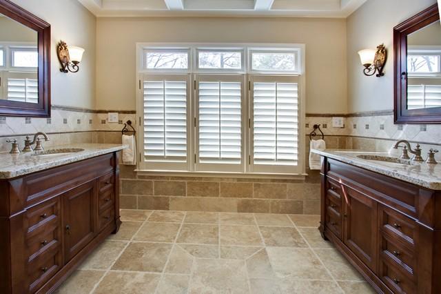 Luxury spa master bathroom for Traditional tile bathroom ideas
