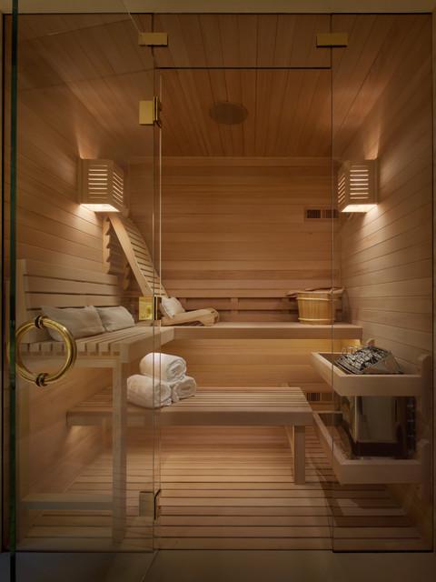Luxury Spa Sauna Contemporary Bathroom San