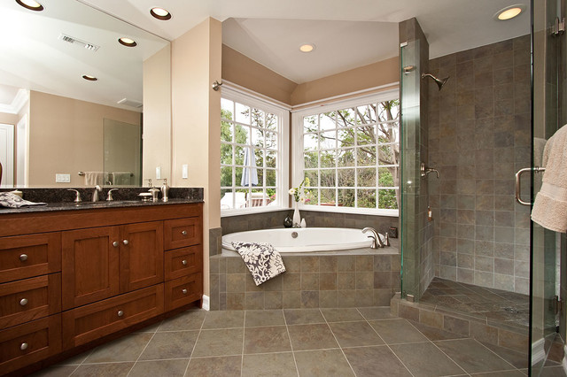 Luxury Spa Tub Bathroom Remodel Traditional