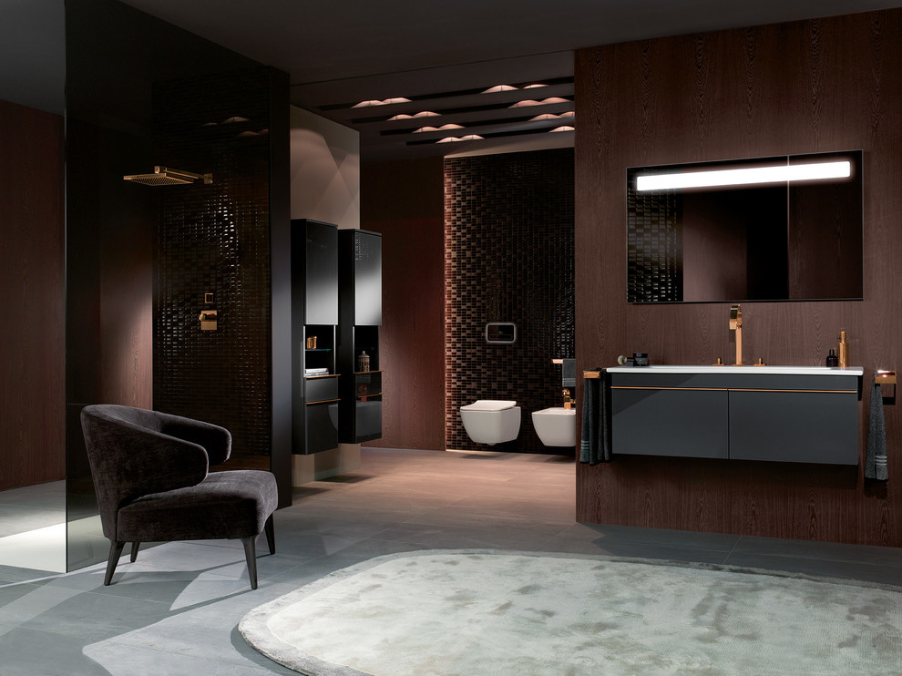 Example of a trendy bathroom design in London