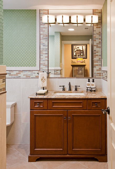Luxury Sports Bar traditional-bathroom