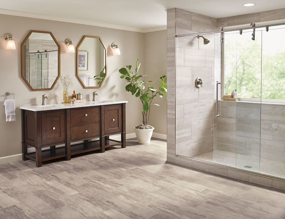 LUXURY VINYL - Transitional - Bathroom - St Louis - by ...
