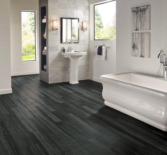 Luxury Vinyl Plank Inspiration Transitional Bathroom