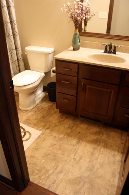 Luxury vinyl tile lvt bathroom other by tudor for Luxury vinyl bathroom flooring